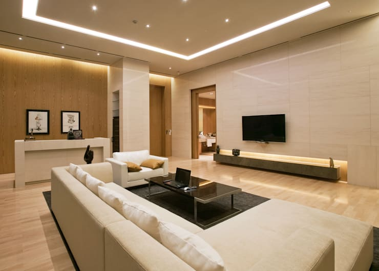 Master Living-room: 피투엔디자인  _____  p to n design의  거실