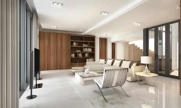 Living: 피투엔디자인  _____  p to n design의  거실