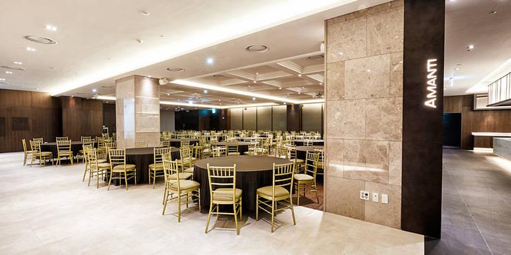 B1F Buffet & Banquet-room: 피투엔디자인  _____  p to n design의  호텔,