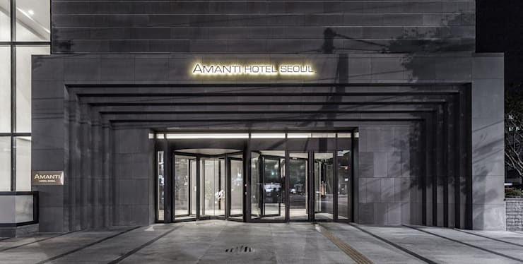 1F Main Entrance: 피투엔디자인  _____  p to n design의  호텔,