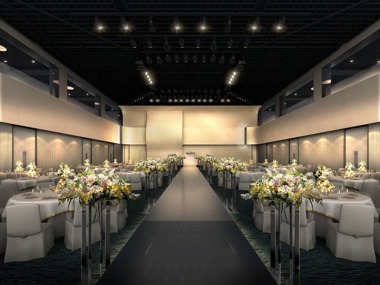 갤러리아포레 웨딩컨벤션: 피투엔디자인  _____  p to n design의 현대 ,모던