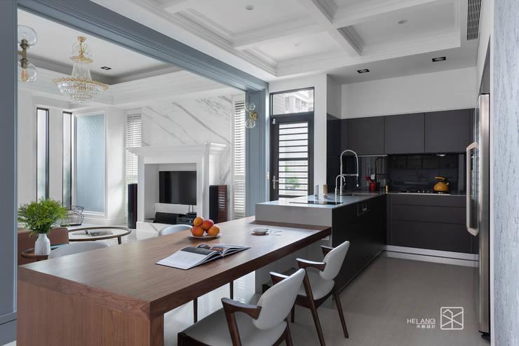 廚房&餐廳:  廚房 by 禾廊室內設計
