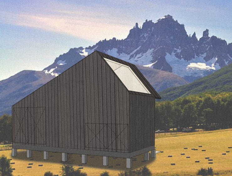 Cabaña para mirar el cielo <q>C</q>: Casas ecológicas de estilo  por UNOAUNO arquitectura sustentable