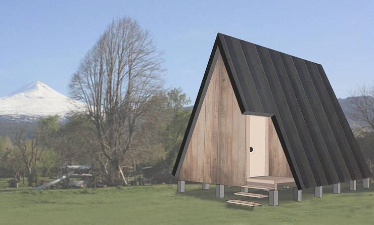 Cabaña tipo A: Casas ecológicas de estilo  por UNOAUNO arquitectura sustentable