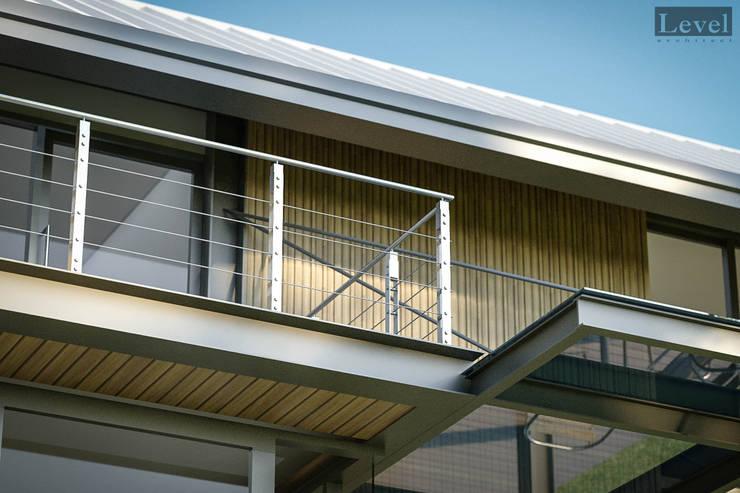 บ้านโครงสร้างเหล็ก:  บ้านสำหรับครอบครัว by LEVEL ARCHITECT