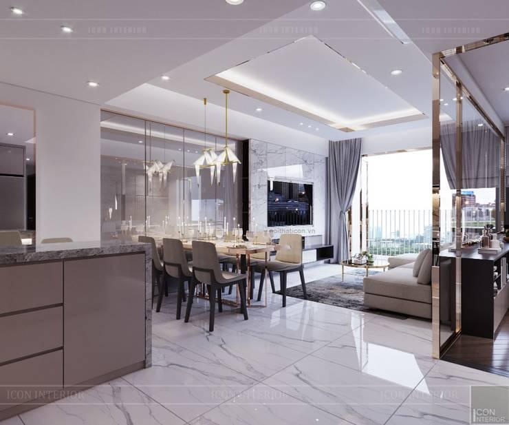 Thiết kế căn hộ Sunrise Cityview – Phong cách hiện đại tiện nghi:  Phòng ăn by ICON INTERIOR
