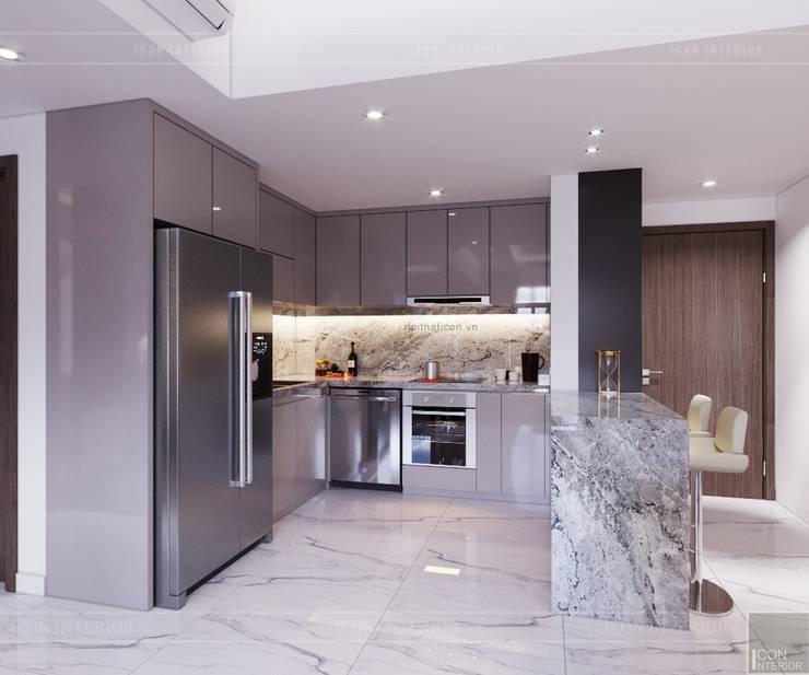 Thiết kế căn hộ Sunrise Cityview – Phong cách hiện đại tiện nghi:  Nhà bếp by ICON INTERIOR