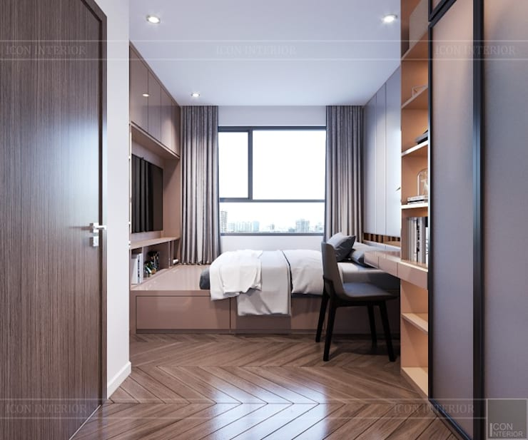 Thiết kế căn hộ Sunrise Cityview – Phong cách hiện đại tiện nghi:  Phòng ngủ by ICON INTERIOR