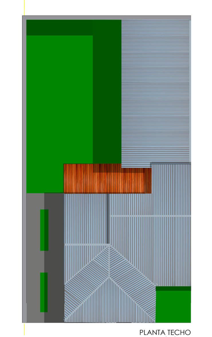 Planta Techo:  de estilo  por Aifos Ansub,
