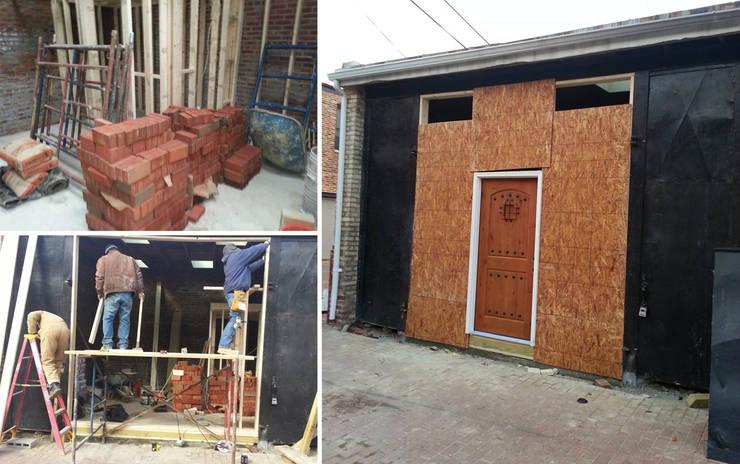 Vip Dekorasyon – Depo Kapısının Ofis İçin Giriş Kapısına Çevrilmesi:  tarz Ön kapılar