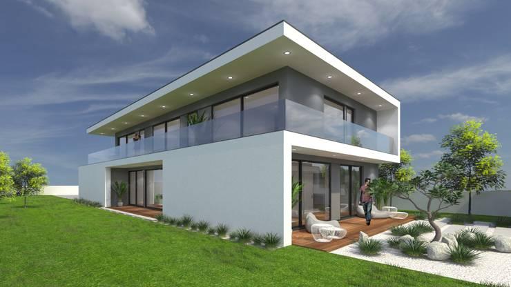 Casas unifamiliares de estilo  por Miguel Zarcos Palma