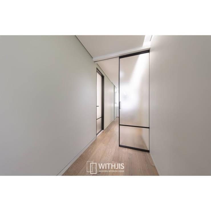 ALU-SD, 1SD (슬라이딩도어 1, 상부구동형): WITHJIS(위드지스)의  복도 & 현관