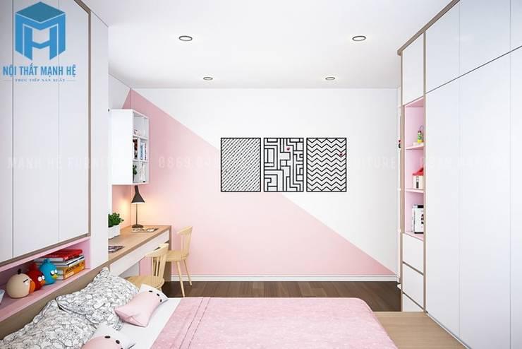 Không gian phòng ngủ nhỏ khá rộng rãi:  Phòng ngủ nhỏ by Công ty TNHH Nội Thất Mạnh Hệ