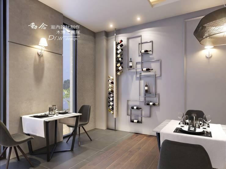 餐廳/商業空間/酒櫃:  餐廳 by 木博士團隊/動念室內設計制作