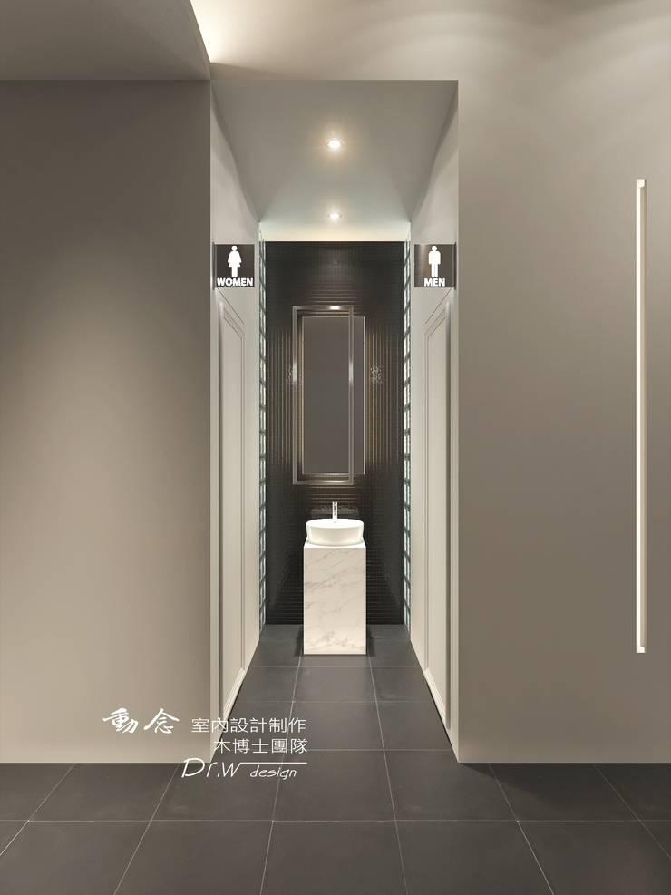 餐廳/商業空間/化粧室:  餐廳 by 木博士團隊/動念室內設計制作