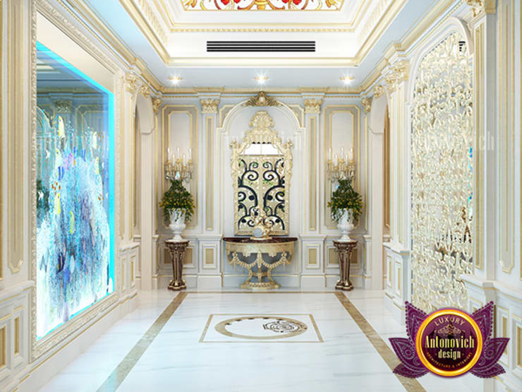 "Stunning Unique Hall Interior Design: {:asian=>""asian"", :classic=>""classic"", :colonial=>""colonial"", :country=>""country"", :eclectic=>""eclectic"", :industrial=>""industrial"", :mediterranean=>""mediterranean"", :minimalist=>""minimalist"", :modern=>""modern"", :rustic=>""rustic"", :scandinavian=>""scandinavian"", :tropical=>""tropical""}  by Luxury Antonovich Design,"