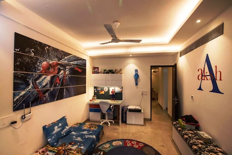 Kids Bedroom - Residence at The Belaire, Golf Course Road:  Nursery/kid's room by The Workroom