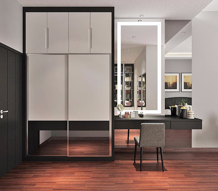 Walk in closet de estilo  por Lighthouse Architect Indonesia,