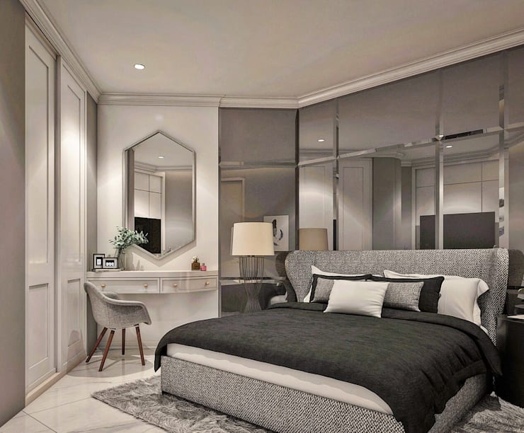 Apartemen City View Mr.H:  Kamar Tidur by Lighthouse Architect Indonesia