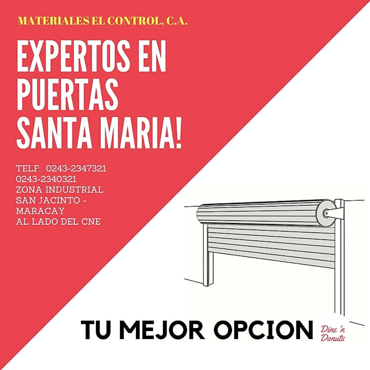 PUERTAS DE HIERRO : Puertas y ventanas de estilo  por MATERIALES EL CONTROL, C.A.