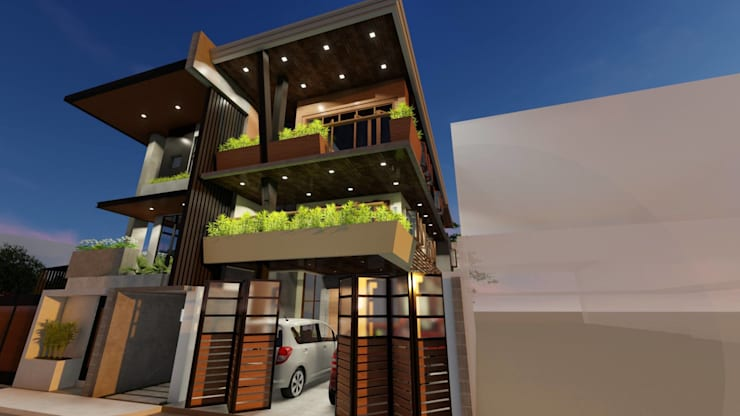 3-Storey Residence, Taguig:  Townhouse by Structura Architects