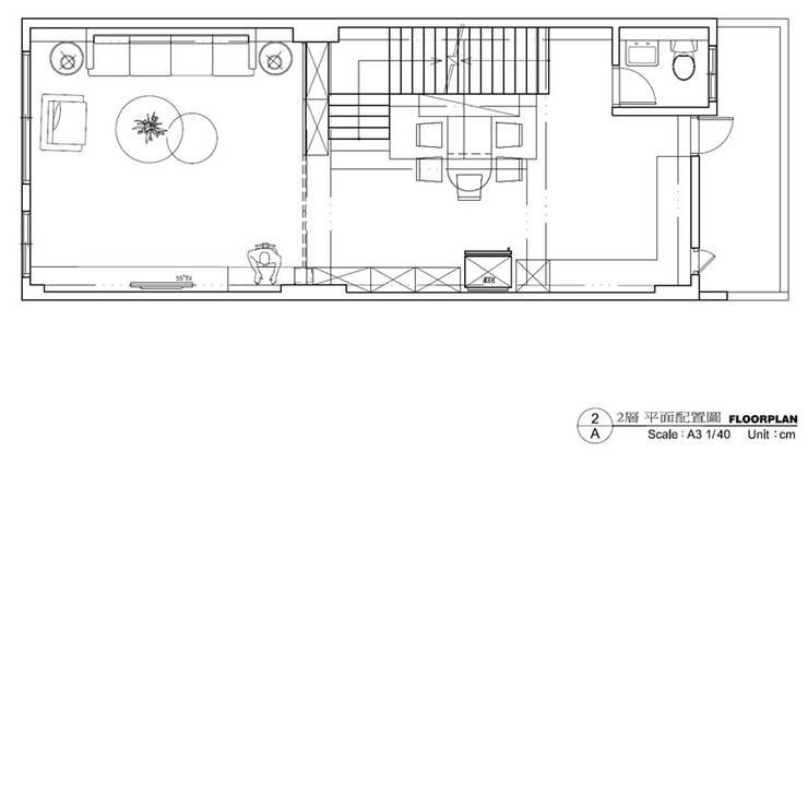 二樓平面圖-客餐廳:   by houseda