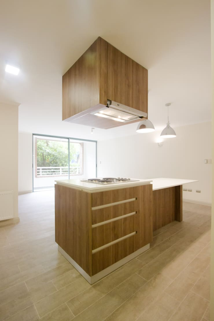 Remodelación de Departamento : Muebles de cocinas de estilo  por IMO INTERIORISMO