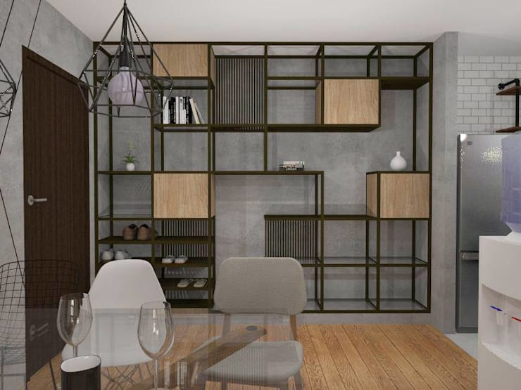 Dining Area / Main Door:  Dining room by Structura Architects