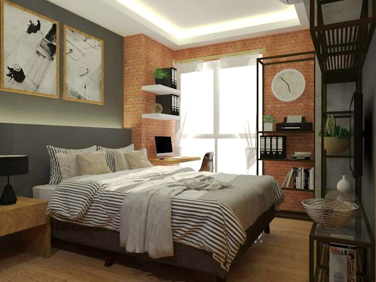 Bedroom - Scheme 1:  Small bedroom by Structura Architects