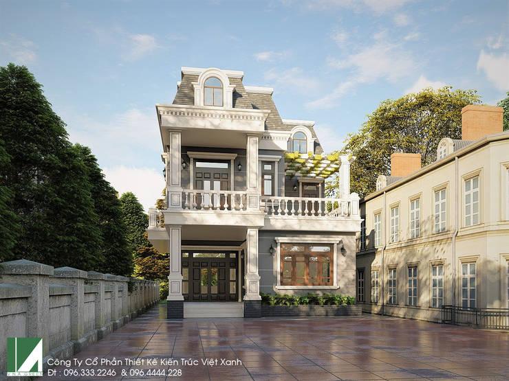 BIỆT THỰ 3 TẦNG CỔ ĐIỂN - BÁC THIẾU KIẾN THỤY - HẢI PHÒNG :   by công ty cổ phần Thiết kế Kiến trúc Việt Xanh