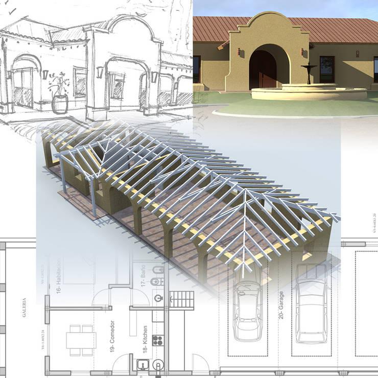 Vivienda en Barrio Los Robles, Carlos Keen: Casas de estilo  por Arq. Fernando Rodriguez & Asociados,