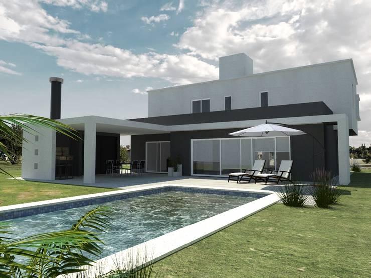 Vivienda en el Barrio Los Alisos, Nordelta: Casas de estilo  por Arq. Fernando Rodriguez & Asociados,
