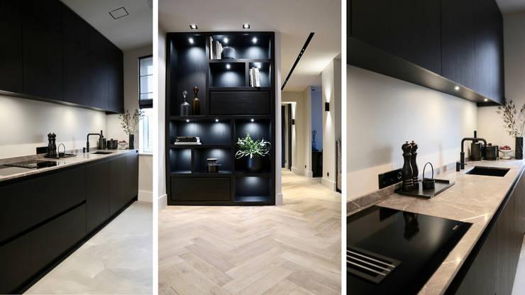 Amsterdams appartement op de Zuidas:  Keuken door NV INTERIORS, Modern