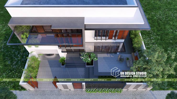 Thiết kế hiên nhà hiện đại:  Hiên, sân thượng by UK DESIGN STUDIO - KIẾN TRÚC UK