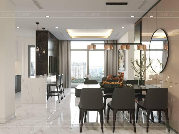 Thiết kế nội thất hiện đại tại căn hộ Landmark 4 Vinhomes Central Park:  Phòng ăn by ICON INTERIOR