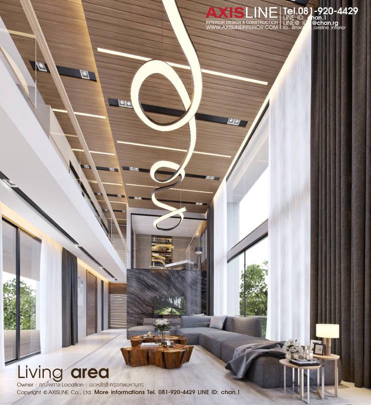 Interior Design : ออกแบบตกแต่งภายใน ภาพ Perspective 3D บ้านคุณไพศาล:  ตกแต่งภายใน by บริษัทแอคซิสลาย จำกัด