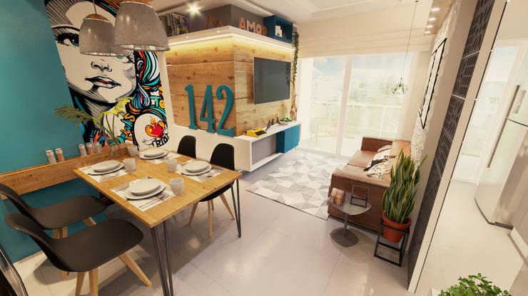 sala de Jantar: Salas de jantar  por Gelker Ribeiro Arquitetura | Arquiteto Rio de Janeiro
