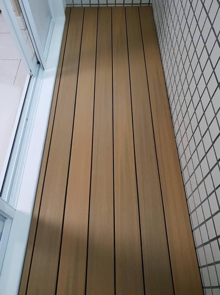 陽台塑木施工 根據 新綠境實業有限公司 日式風、東方風 塑木複合材料