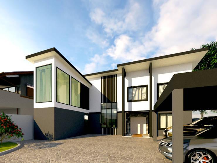 บ้านคุณกิต:  บ้านและที่อยู่อาศัย by บริษัท พี นัมเบอร์วัน ดีไซน์ แอนด์ คอนสตรัคชั่น จำกัด