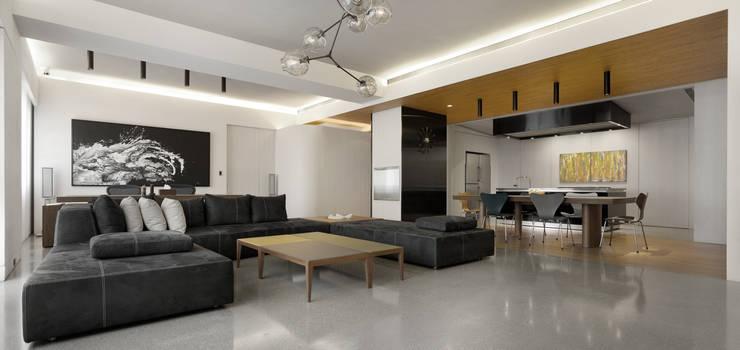 大直住宅 DaShih Residence:  餐廳 by  何侯設計   Ho + Hou Studio Architects