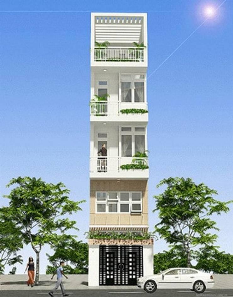 Những mẫu nhà 5 tầng đơn giản, tối ưu công năng:   by Kiến Trúc Xây Dựng Incocons