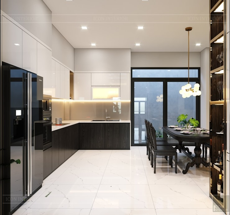 THIẾT KẾ NHÀ PHỐ MR.DONG – Mr.Dong's House in interior design:  Nhà bếp by ICON INTERIOR