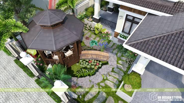 Sân vườn biệt thự:  Nhà vườn by UK DESIGN STUDIO - KIẾN TRÚC UK