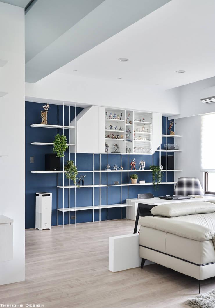 BLUE X PLAY:  書房/辦公室 by 思維空間設計