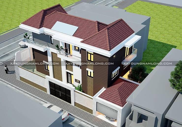 Thiết kế biệt thự phố 2 mặt tiền đẹp:   by Công ty xây dựng nhà đẹp mới
