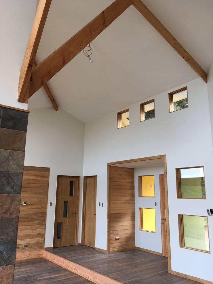 Vista Living Hall Acceso: Livings de estilo  por Nomade Arquitectura y Construcción spa