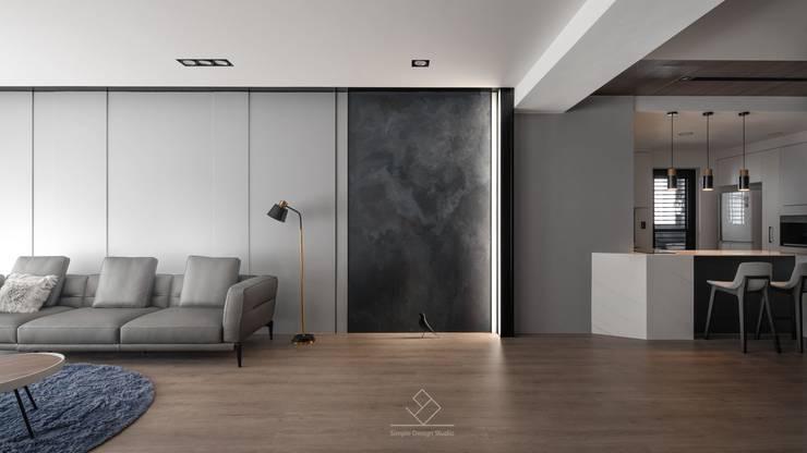 公領域特色:  牆面 by 極簡室內設計 Simple Design Studio