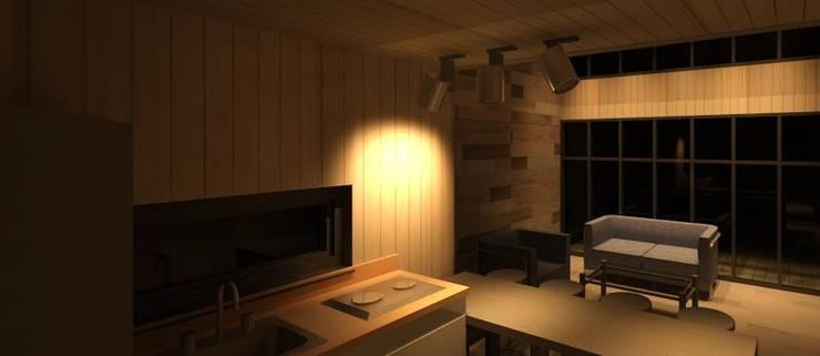 interior cocina:  de estilo  por Incove - Casas de madera minimalistas