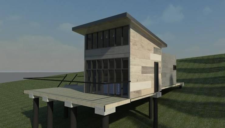 vista exterior:  de estilo  por Incove - Casas de madera minimalistas