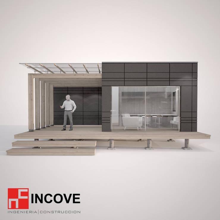 Vista Frontal:  de estilo  por Incove - Casas de madera minimalistas